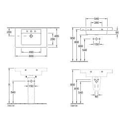 Villeroy & Boch Omnia Architectura 800x485мм за стенен монтаж 2