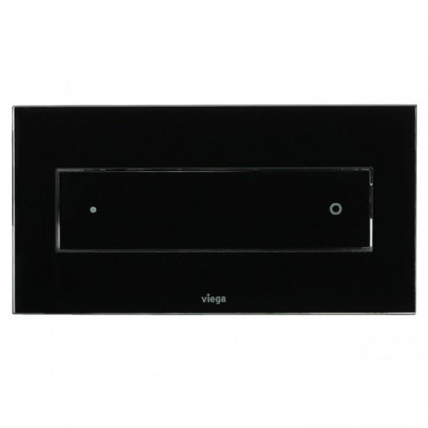 Viega Visign for Style 12 черно закалено стъкло бутон за WC 687 861