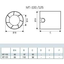 Cata MT 125 канален вентилатор 2