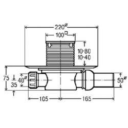 Рогов сифон за баня Viega Advantix със суха клапа (метална рамка) 2