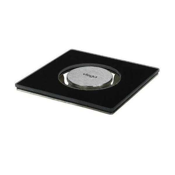 Стъклена решетка за сифон Viega Advantix Visign RS5 94x94 черна 617 141