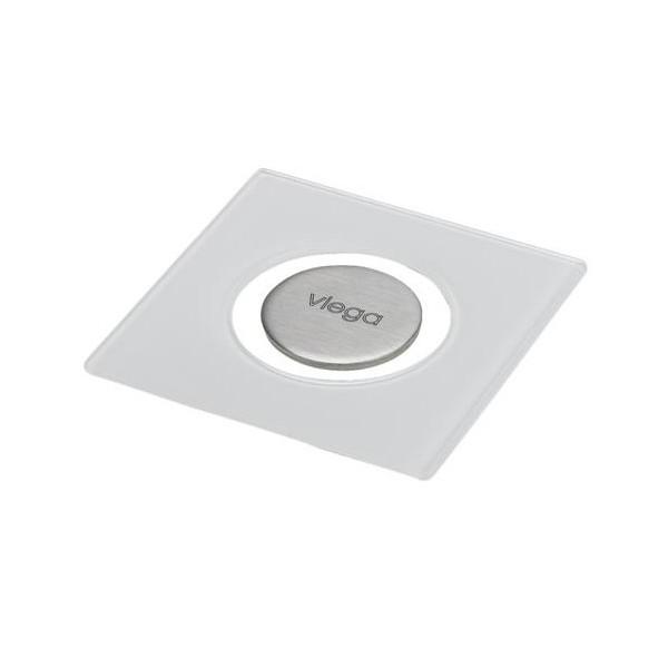 Стъклена решетка за сифон Viega Advantix Visign RS5 94x94 сива 617 127