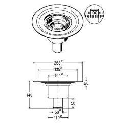 Прав сифон за баня Viega Advantix 100x100 (пластмасова рамка) DN 50 556 914