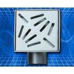 Подов сифон Inox Style ленти диагонал 100х100
