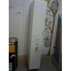 Колона на 30см с две вратички и чекмедже и кош за пране 2