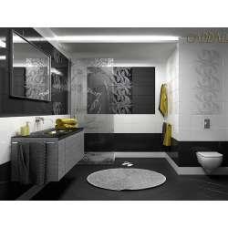Carrara 25 x 60 - баня в бяло и черно F0000190