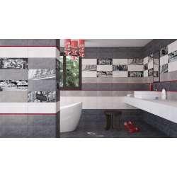 Paris 20x50 - сиви с стъклени декори F0000192