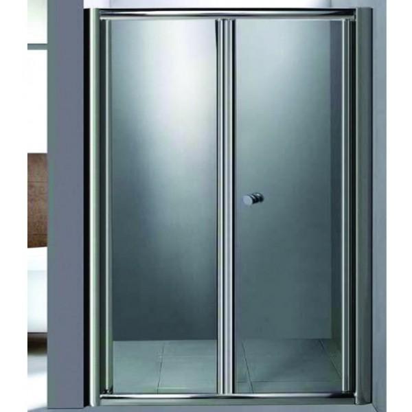 Сгъваема врата тип хармоника 100см и статично стъкло ICS_100/20