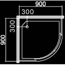 Овална душ кабина 90х90 - мат стъкло 1