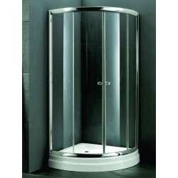 Овална душ кабина 90х90 - мат стъкло