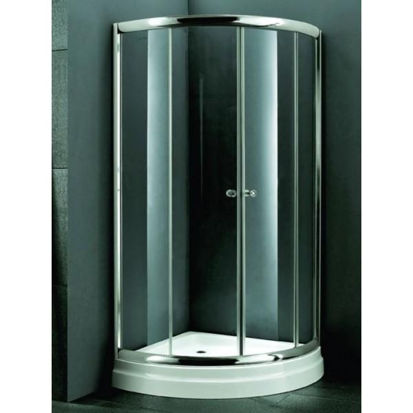 Овална душ кабина 90х90 - мат стъкло A1900 90M