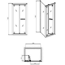 Сгъваема врата KOLO Geo 6 90см 2