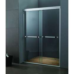 Стъклена преграда на 150см с две плъзгащи врати MY-4000В-150