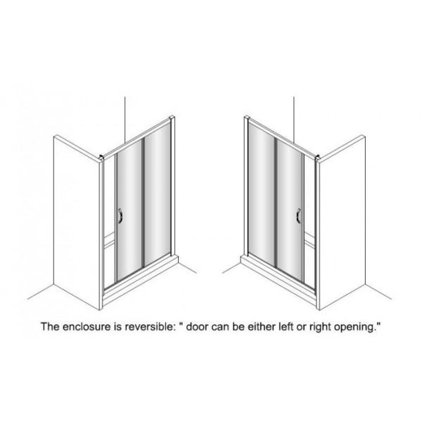 Плъзгаща се преградна врата с 2 елемента Huppe X1 - 140см 140404.069.321