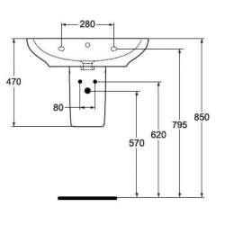 Ideal Standard Active овален полупиедестал 2