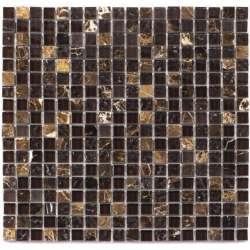 Каменно-стъклена мозайка 1.5х1.5 Malla Marron 30x30