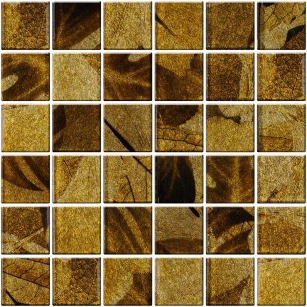 Стъклена кафява мозайка 5х5 Formosa A-MGL08-XX-040 A-MGL08-XX-040