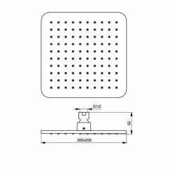 Душ пита IdealRain Cube M1 200х200 мм 2
