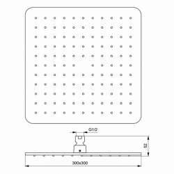 Душ пита IdealRain Cube L1 300х300 мм 2