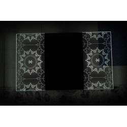 Огледало с вградено LED осветление Sun 100x60см