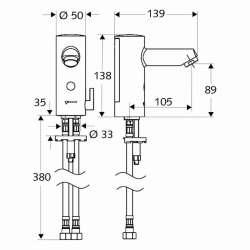 Schell MODUS E HD-M 9V смесител за мивка с фотоклетка 1