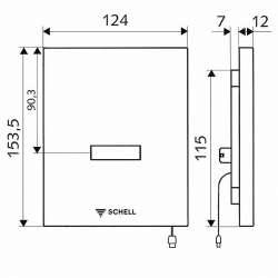 Schell Edition E 9V активатор за писоар с фотоклетка 2