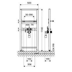 Schell структура за вграждане за мивка 2