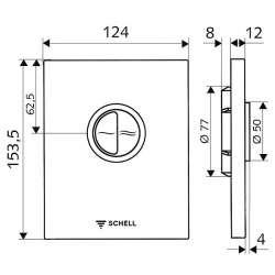 Schell Edition Eco активатор за WC за промивен кран от стомана 2