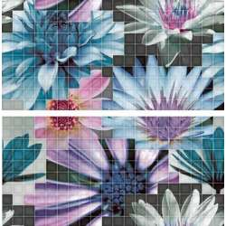 Mosaico Azul 25x50 - в синьо 2