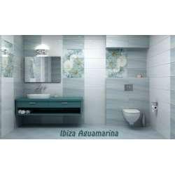 Ibiza Aquamarina 27x60 - декор с маргаритки 2