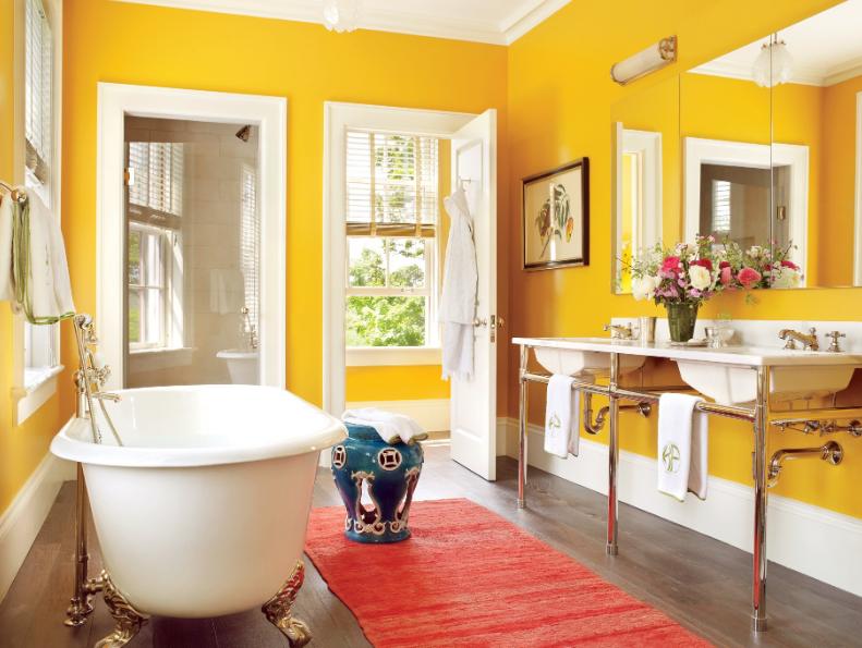 Кои са най-подходящите цветове за баня?